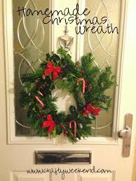 Homemade Christmas Wreaths by How To Make A Homemade Christmas Wreath Crafty Weekend Craft