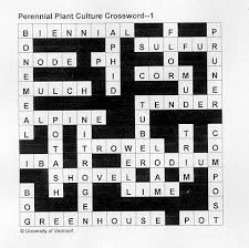 quizzes and crosswords on perennials