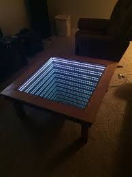 Coffee Table Mirror by I Made An Infinity Table In My Woods 1 Class Jays Custom