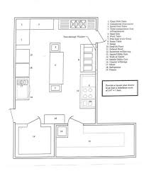 Sample Floor Plan Of A Restaurant Simple Restaurant Kitchen Layout Design Lines With