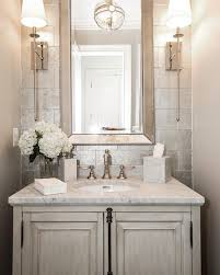 such an elegant powder room by castlwood custom builders