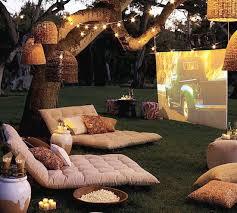 Backyard Projector Screen by String Lights Projector Screens Backyard And Patios