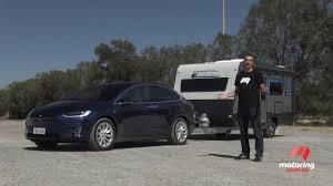 burgundy subaru outback tesla model x 2017 tow test motoring com au
