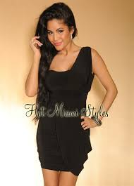 Draped Black Dress Draped One Shoulder Padded Dress