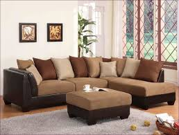 furniture brown leather sectional couch with recliners soft