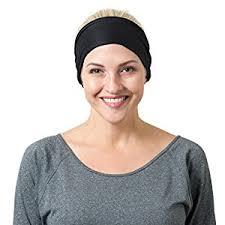 wide headband black solid and black striped headbands sports