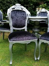 silver rococo italian dining table and chairs shabby chic hand