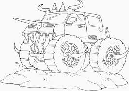 grave digger monster truck coloring page with coloring pages draw