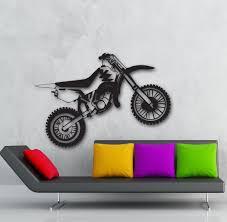 21 motorcycle wall decals motorcycle vinyl wall decal motorcycle wall stickers vinyl decal motorcycle motorbike enduro sport garage