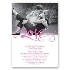 love sparkles faux glitter invitation invitations by dawn
