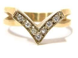 v shaped diamond ring ebay v shaped diamond ring ebay