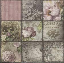 serviette en papier vintage 2 serviettes papier decor fleuri passioncreationcollection