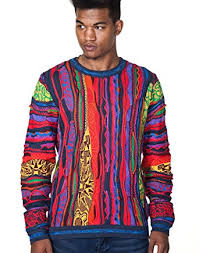tribal sweater coogi tribal crewneck sweater at amazon s clothing store