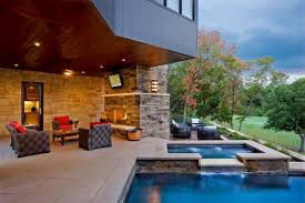 beautiful modern house with swimming pool and net trends images