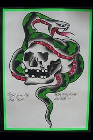 metal mike tattoos sailor jerry skull snake