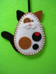 calico cat unique gift box ornament