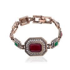 red crystal bracelet images Turkey vintage big red crystal bracelet bangle for women very jpg