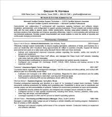System Administrator Resume Template Database Administrator Resume Template U2013 8 Free Word Excel Pdf