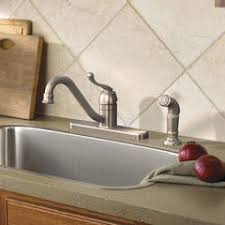 moen muirfield kitchen faucet shop moen muirfield spot resist stainless 1 handle deck mount low
