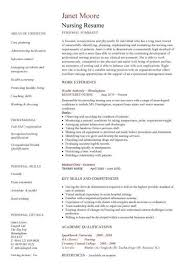 Canadian Style Resume Template Example Of Resume For Nurses Resume For Nursing Informatics