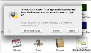 Cricut Craft Room Software - my mac says that the software is from an unidentified developer