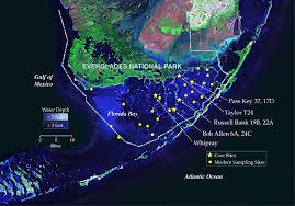 satellite map of florida south florida ecosystem history website