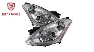 nissan altima coupe accessories spyder nissan altima 4dr 2010 2012 projector headlights light