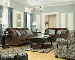 blue living room set brown leather couches in living room living room furniture on