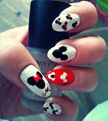 mickey and minnie nail design by soimmature on deviantart