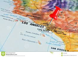 Los Angeles Maps by Los Angeles On Map Stock Photo Image 40496898