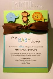 jungle baby shower invite handmade monkey invitations for boys partylicious partylicious
