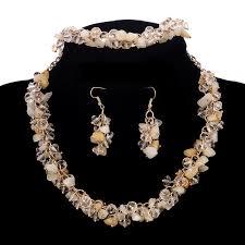 necklace earring bracelet set images Hesiod 8colors bib chunky choker collar necklace earrings bracelet jpg