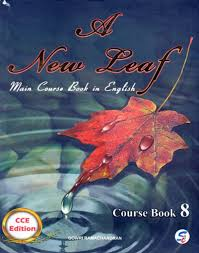 a new leaf main course book in english class 8 buy a new leaf