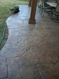 Concrete Ideas For Backyard Stamped Concrete Patio Much Cheaper Than Flagstone Or Pavers And