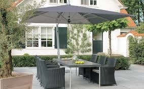 Patio Table Umbrellas Furniture Cantilever Patio Umbrella In White With Round Stool For