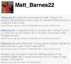Basketball Wives Matt Barnes Twitter Beef Matt Barnes Goes Off Shaunie O U0027neal On Basketball