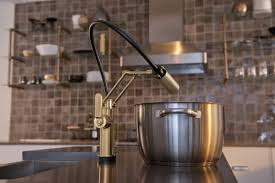 articulating kitchen faucet faucet 64244lf gl in luxe gold by brizo