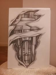 biomechanical tattoo sleeve design by shell31 on deviantart
