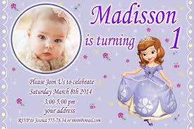 sophia the first birthday invitation princess sophia birthday