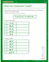 what u0027s the temperature tonight u2013 5th grade math worksheets for