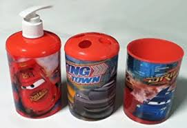 amazon com 3 pc disney pixar cars bath set dispenser