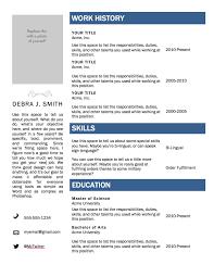 Std Resume Format Sample Resume Templates Word Resume Templates And Resume Builder