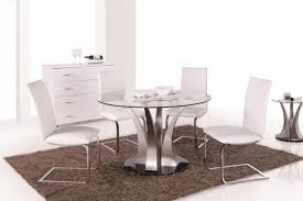 Glass Round Kitchen Table Glass Round Dining Table For 6 Interior Design