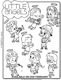 little angels differences game coloring pages hellokids com