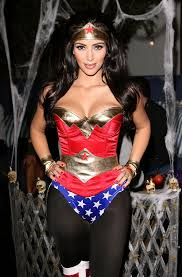 kim kardashian sported a wonder woman costume for her annual
