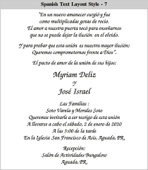 Wedding Invitation Phrases Spanish Wedding Invitation Wording Spanish Wedding Invitation