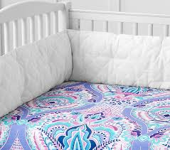 harper paisley crib fitted sheet pottery barn kids