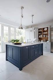 shaker kitchen island grey and navy kitchen by tom howley featured on blue tea kitchen