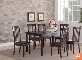 espresso slat back dining table set f2270 savvy shopper direct