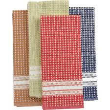 martha stewart collection waffle weave kitchen towels set of 3
